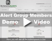 Alert Group Members Demo Video