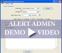 Desktop Alert Administrator Application Demo Video