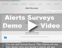 Desktop Alert Survey Feature Demo Video