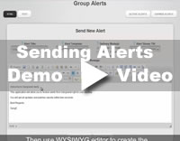 Sending Alert Notification Demo Video