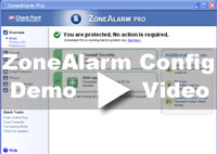 ZoneAlarm Firewall Config Video